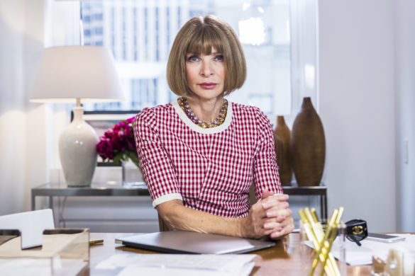 "LATE NIGHT WITH SETH MEYERS -- Episode 202 -- Pictured: Anna Wintour during the ""Anna Wintour: Comedy Icon"" skit May 6, 2015 -- (Photo by: Lloyd Bishop/NBC/NBCU Photo Bank via Getty Images)"