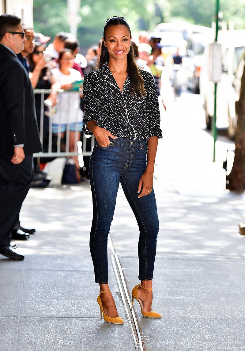 Zoe Saldana in Denim.