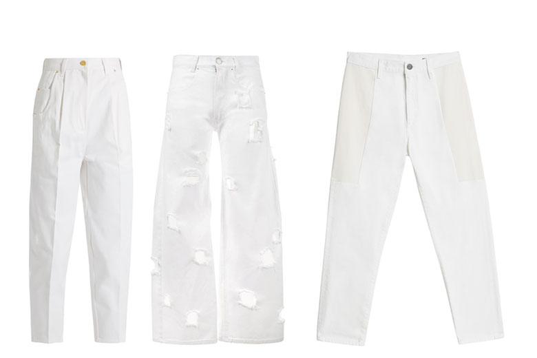 jeans white denim